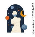 female antique statue. museum... | Shutterstock .eps vector #1898516257