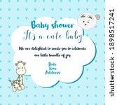 cute baby shower template in... | Shutterstock .eps vector #1898517241