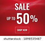 red sale banner with text with... | Shutterstock .eps vector #1898535487