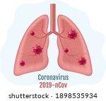 lungs human internal organ with ... | Shutterstock .eps vector #1898535934