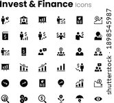 investment and finance icon set | Shutterstock .eps vector #1898545987