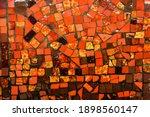 Small Ceramic Mosaic. Abstract...