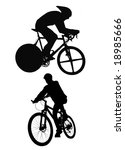 cyclist silhouette isolated on... | Shutterstock . vector #18985666