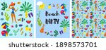 beach party collection of... | Shutterstock .eps vector #1898573701