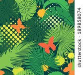 seamless pattern with palm... | Shutterstock . vector #189858074