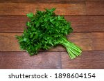 A Bunch Of Fresh Parsley On A...