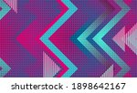 retro geometric abstract blue... | Shutterstock . vector #1898642167