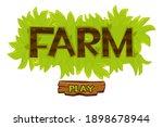 vector grass bush farm logo for ...