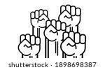 many a man s fist  vector...   Shutterstock .eps vector #1898698387