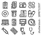 set  colletion of medical ... | Shutterstock .eps vector #1898712337