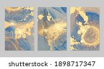 bright blue and gold stone... | Shutterstock .eps vector #1898717347