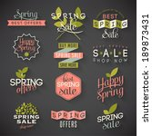 spring sale labels | Shutterstock .eps vector #189873431