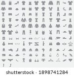 clothes icons style  vector eps ... | Shutterstock .eps vector #1898741284