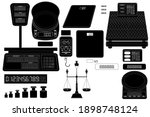 collection of electronic and... | Shutterstock .eps vector #1898748124