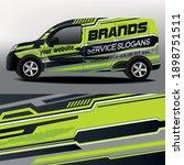 delivery van vector design. car ... | Shutterstock .eps vector #1898751511