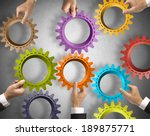teamwork and integration... | Shutterstock . vector #189875771