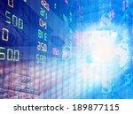 stock exchange graph background  | Shutterstock . vector #189877115