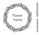 dense thorny vector wreath of... | Shutterstock .eps vector #1898784184