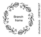 cute frame with twigs  leaves... | Shutterstock .eps vector #1898784187