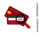 cvv code icon simple. cvv code... | Shutterstock .eps vector #1898789647