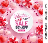 valentine's day sale 50  off... | Shutterstock .eps vector #1898810491