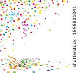 colorful confetti scenery with...   Shutterstock .eps vector #1898831041