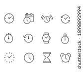 time and clock linear icons...   Shutterstock .eps vector #1898892994