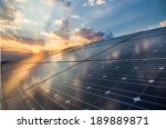 photovoltaic cells on the... | Shutterstock . vector #189889871