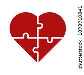 puzzle heart vector  valentine... | Shutterstock .eps vector #1898910841