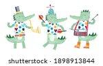band of merry musicians... | Shutterstock . vector #1898913844