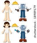 Engineer Paper Dolls   Vector