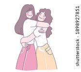young women embracing each... | Shutterstock .eps vector #1898927851