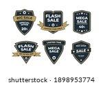 set of retro vintage sale logo... | Shutterstock .eps vector #1898953774