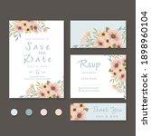 wedding invitation  save the... | Shutterstock .eps vector #1898960104