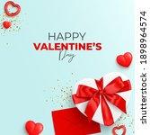 happy valentine's day card. top ...   Shutterstock .eps vector #1898964574