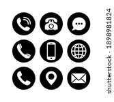 contact page icon set. contact...