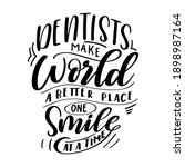 dental care hand drawn quote.... | Shutterstock .eps vector #1898987164