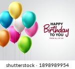 birthday greeting vector design....   Shutterstock .eps vector #1898989954