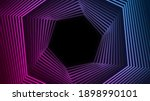 blue ultraviolet neon hexagons... | Shutterstock . vector #1898990101