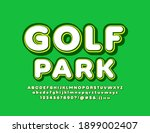 vector sport sign golf park.... | Shutterstock .eps vector #1899002407