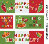 collection of mexican themed... | Shutterstock .eps vector #189903455