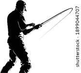 fly fisherman fishing.graphic... | Shutterstock .eps vector #1899044707