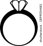 valentine heart ring icon....   Shutterstock .eps vector #1899054481