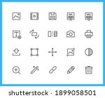 multimedia and editor linear... | Shutterstock .eps vector #1899058501