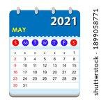 2021 calendar. wall calendar... | Shutterstock .eps vector #1899058771