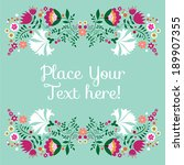 greeting card design | Shutterstock .eps vector #189907355