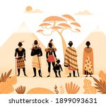 africa composition with... | Shutterstock .eps vector #1899093631