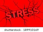 word stress in red color with... | Shutterstock . vector #189910169