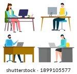 set of illustrations. people...   Shutterstock .eps vector #1899105577