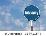 advisory sign | Shutterstock . vector #189911549